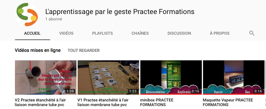 Chaine Youtube Practee Formations